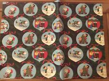 3 sheets of vintage Snoopy Peanuts Hallmark Christmas wrapping paper