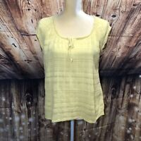 Christopher And Banks Women's Yellow Top NWOT Size Large