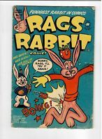 Rags Rabbit No.12 Aug.1951 Golden-Age Very Low Print Comic in VG- Harvey!