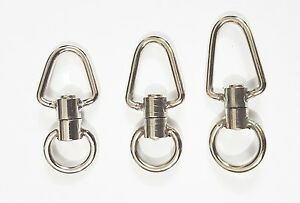 Falconry Stainless steel Swivels in 3 sizes