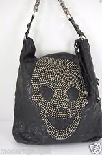 SUPPER BEAUTIFUL!!!  Thomas Wylde  STUDDED SKULL LARGE  HOBO LEATHER BAG