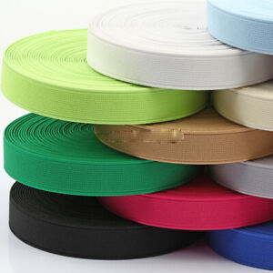 16M Elastic Band 15mm Wide Plain Woven Stretch Cord Underwear Sewing Accessories