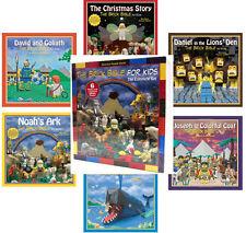 Brick Bible for Kids  (hc) Christmas Story,Jonah & Whale,Noahs Ark,Daniel + 6 Bk