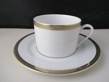 """DESHOULIERES ATHOS GOLD & PLATINUM CUP & SAUCER 2 1/8"""" -1406C"""