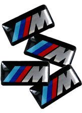 4x M Sport potencia 3D Rueda Aleación insignia emblema 18.5x11mm BMW serie 3 4 2 X5 X6 M3