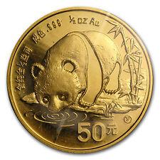 1987-Y China 1/2 oz Gold Panda BU (Sealed) - SKU #11955