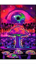 Mushroom Eyeball Blacklight Poster