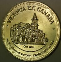 1971 Victoria British Canada Gardens City Hall Good For $1 Dollar UNC Token