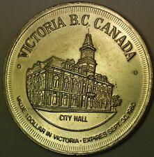 1971 Victoria British Canada Gardens City Hall Good For $1 Dollar UNC Token