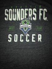 Adidas MLS Seattle Sounders FC Boys L 14-16 Short Sleeve T Shirt Dark Gray