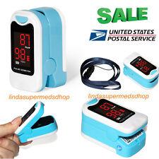 Pulse Oximeter FingerTip  SPO2 Blood Oxygen Monitor CONTEC,Pouch,Lanyard CMS50M