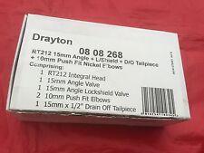 Drayton RT212 Thermostatic Radiator Valve TRV 15mm Angled c/w Lockshield 0808268