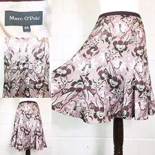 Marc O'Polo Opolo Pink Skirt Flippy Midi Floral Silky Arty Skater UK14 |X57|