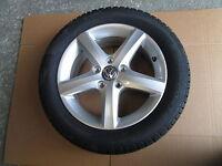 VW ALLOY WHEEL 5G0071496 WITH PIRELLI SNOW CONTROL 205 55 R16 91H WINTER TYRE