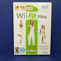 Wii Fit Plus Nintendo Video Game Fitness Health Complete with Manual