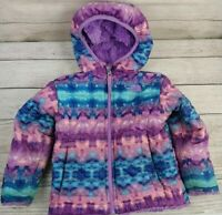 The North Face Reversible Teddy Fur Jacket Purple Toddler Girl Size 2T EUC!