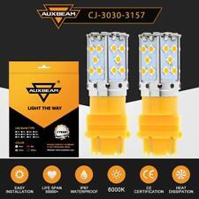 2x AUXBEAM 3157 LED Tail Brake Stop Backup Reverse Turn Light Bulbs Yellow 3457