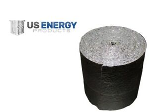 """Reflective Foam Insulated Aluminum Foil Spiral Duct Pipe Wrap Sill Seal 6""""x500'"""