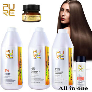 PURE Keratin Repair and Straighten Damage Hair Treatment and Purifying Shampoox
