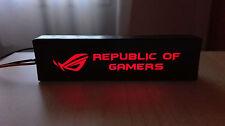Logo iluminado para pc ASUS ROG led, GTX 1070, 1060, 970, 960, 1080, 660, RX AMD