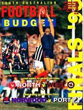 SANFL FOOTBALL BUDGET ELIMINATION & QUALIFYING FINAL 1995 POSTER GLEN KILPATRICK