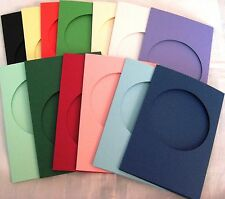 Aperture Cards Circle A6 3 fold with env YOU PICK COLOUR & PACK SIZE