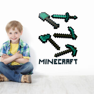Minecraft Game 3D Wall Stickers  UK