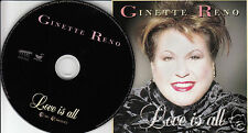 GINETTE RENO Love is All (CD 1998) 15 Songs Made in Canada Pop Album Rare OOP