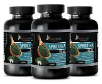 brain food - PURE SPIRULINA 500mg - stem cell supplement - 3 Bottles