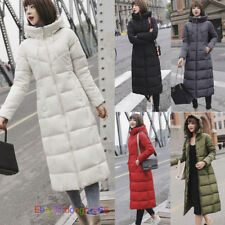 Winter Women's Long Jacket Overcoat Slim Thick Down Cotton Coat Quilted Padded