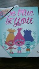 """NEW """"BE TRUE TO YOU"""" TROLLS PICTURE ON CANVAS SIZE 8 X 10"""