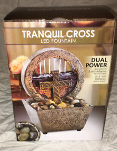 TRANQUIL CROSS LED FOUNTAIN Dual Power