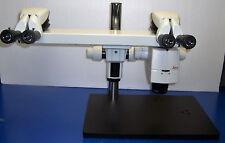 9381 LEICA WILD M125 TRAINING STEREO ZOOM MICROSCOPE DUAL HEAD ZOOM BODY 0.8-10X