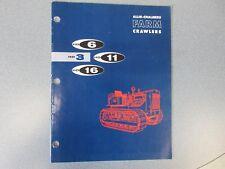 Allis Chalmers HD-3, HD-6, HD-11, HD-16 Crawler Dozer Sales Brochure