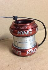 "Vintage Chris King NoThreadset Headset Threadless 1 1/8"" Red"
