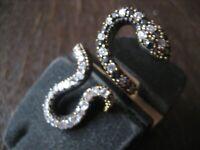 Krafttier Schlange - starker Schlangen Ring 925er Silber gold Zirkonia RG 55-60