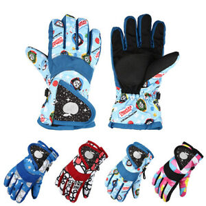 Waterproof Gloves Winter Warm Windproof Ski Children Boys Girls Outdoor Gloves