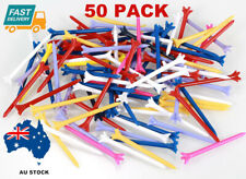 50Pack Golf Tees Zero Friction Plastic Tee 70mm Mixed Color Free Shipping