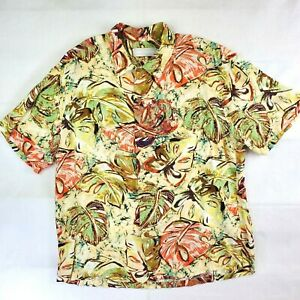 JAMS WORLD Men's Marble Fern Hawaiian Button Down Shirt Large