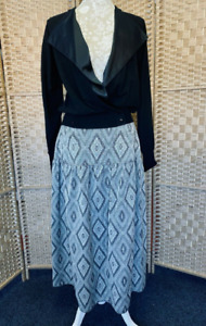 Vintage Roland Kerry London 2 Piece Suit Princess Diana 100% Wool UK12/14 1980's