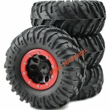 4pcs RC 2.2 Crawler Tires 130mm & 2.2 Beadlock Wheels Rims For 1/10 RC Crawler