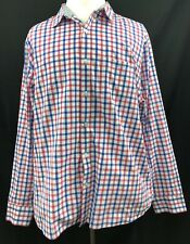 Bonobos 100% Cotton Pink Blue Check Men Standard Fit Shirt XXL