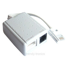 White Quality ADSL Micro Filter Splitter With Lead For Phone Modem Internet