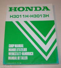 Werkstatthandbuch Rasentraktor Honda H 3011 H / H 3013 H - Stand 1989!