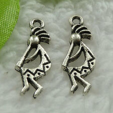 Free Ship 400 pieces tibet silver skull charms 24x9mm #976