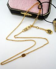 Auth Juicy Couture Gold Basic Starter Chain Necklace New with TAG