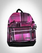 YAK PAK Plaid DELUXE Student Backpack SHOULDER BAG School PINK Black WHITE New