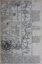 Antique road map GLOUCESTERSHIRE, WORCESTER, HEREFORDSHIRE, Owen & Bowen, 1724
