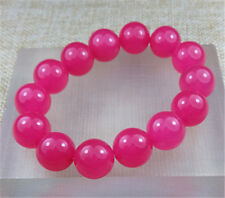 14MM 100% Natural RED JADE beads bracelet