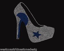 Dallas Cowboys High Heel Rhinestone Iron on Transfer          9638